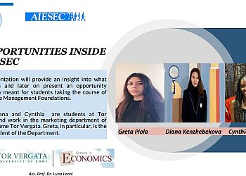 Opportunities inside AIESEC