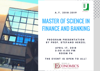 Presentazione Master of Science in Finance & Banking