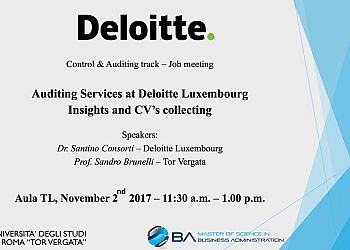 Auditing Services at Deloitte Luxembourg Insights and CV's collecting