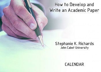 How to develop and Write an Academic Paper