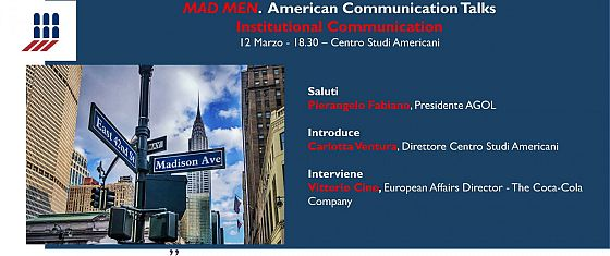 Mad Men American Communication Talk - Institutional Communication