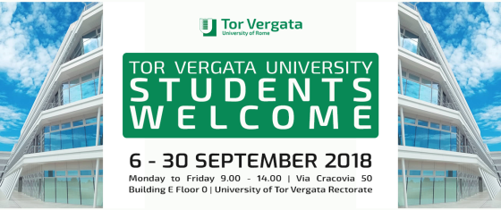Welcome weeks 2018: dal 6 al 30 settembre