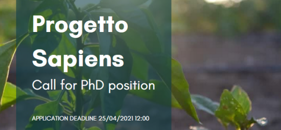 Sapiens Network: Call for PhD position