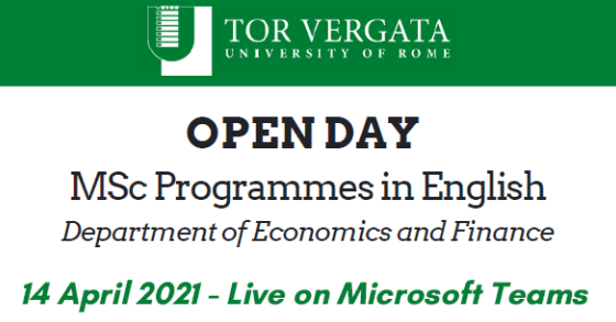 Open Day MSc Programmes in English
