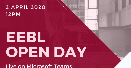 EEBL Open Day - 2 April 2020